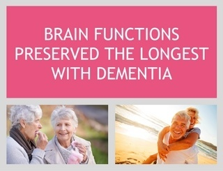 Brain Functions Preserved the Longest With Dementia